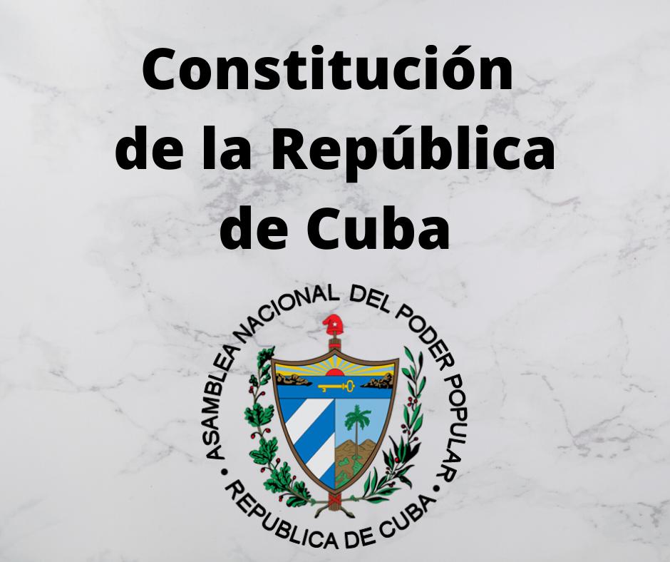 Constitución de la República de Cuba