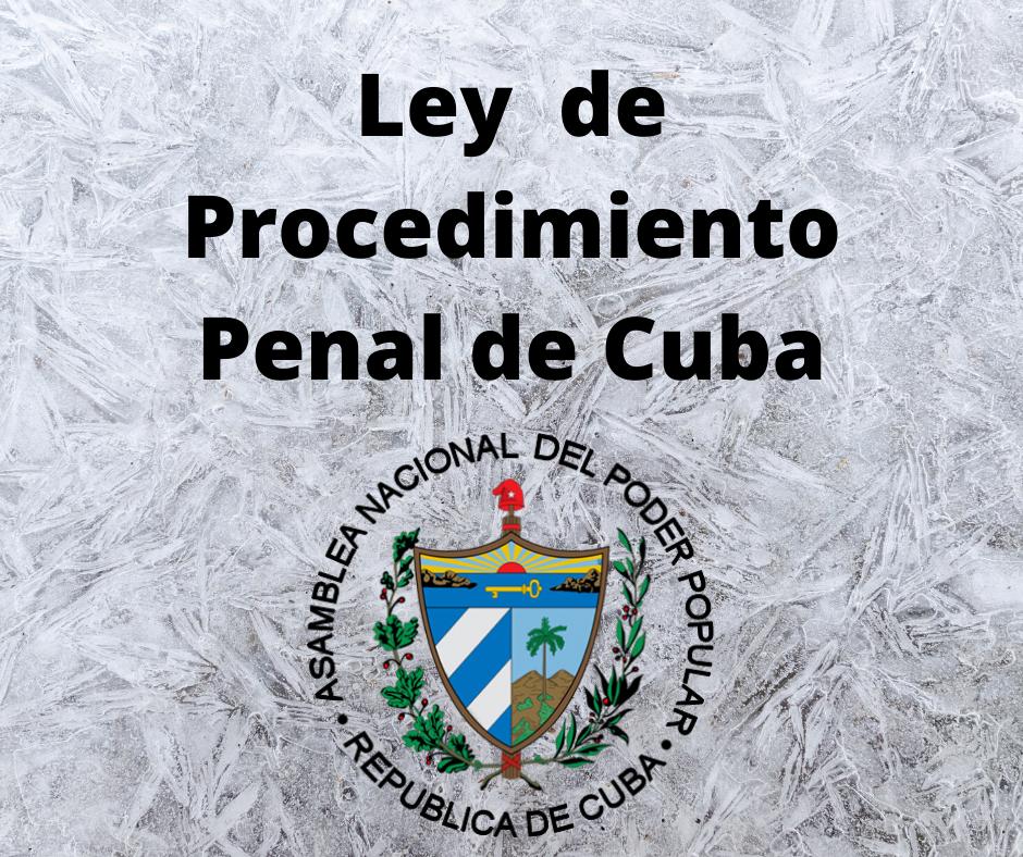 Ley de Procedimiento Penal de Cuba
