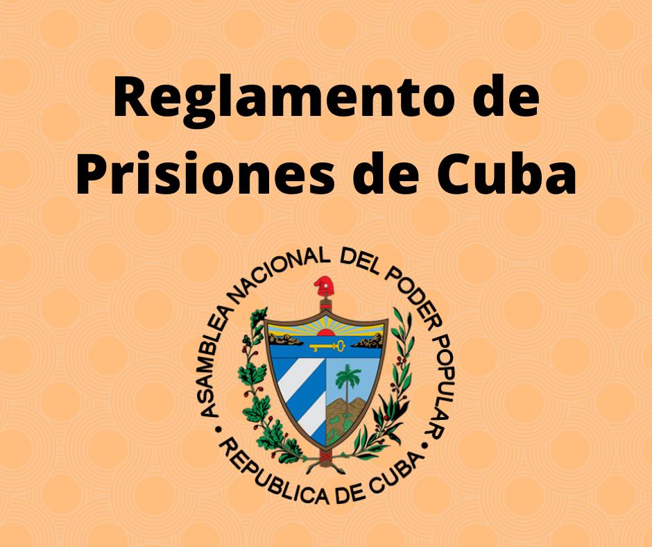 Reglamento de Prisiones de Cuba