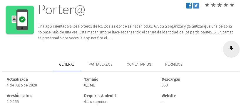 app porter@ control de la ciudadanía en Cuba